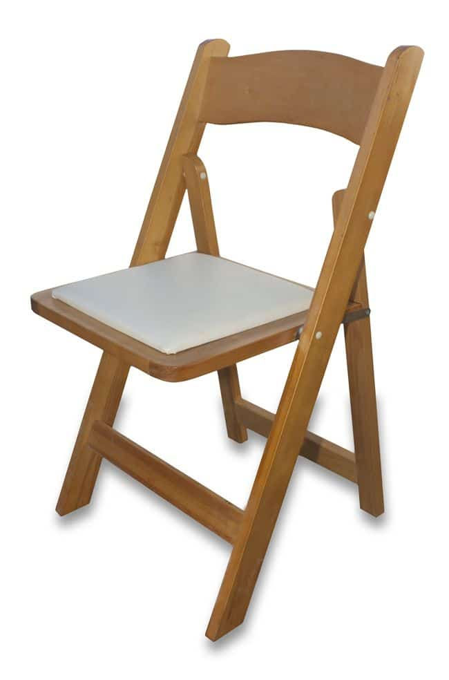 Wollongong Party Hire Wooden Padded Folding Chair